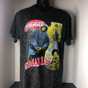 Biggie Smalls Neon Picture Tshirt Black Large